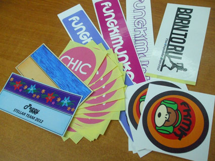mirrorkote sticker printing